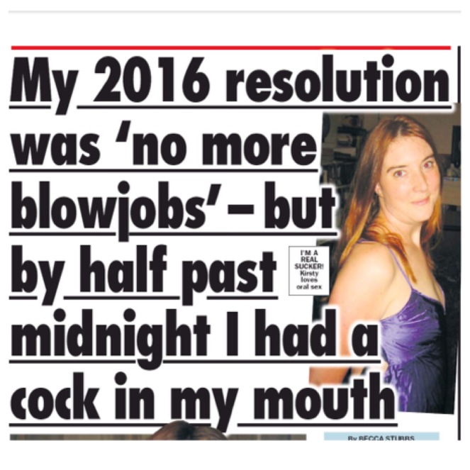 New Years Resolution to stop giving blow jobs
