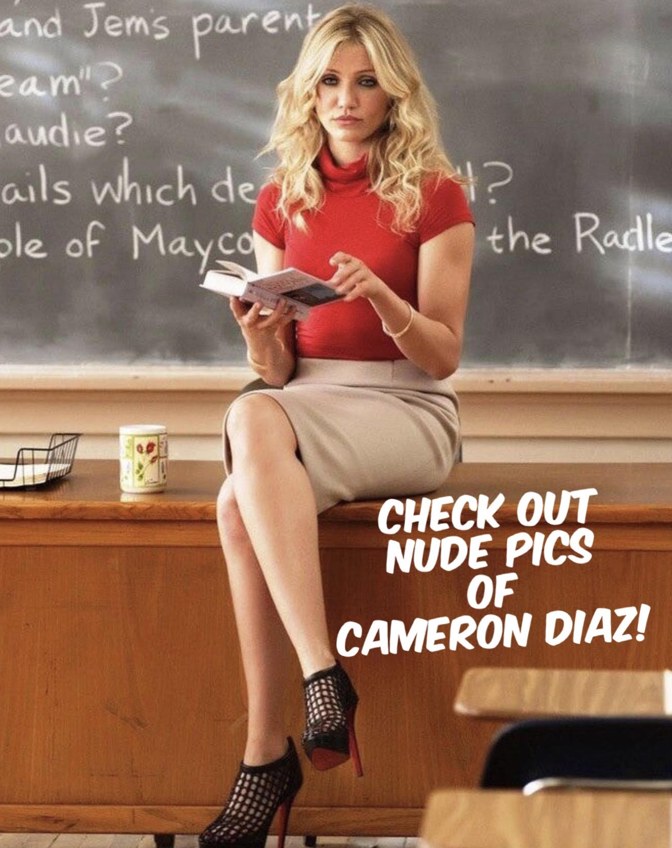 "alt=""Cameron Diaz sitting on a desk"">"